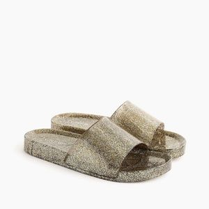 NWT J. Crew Women's Glittery Pool Slides